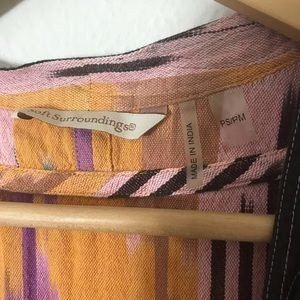 Soft Surroundings Jackets & Coats - Soft Surroundings Multi-Color Print Kimono PS/PM